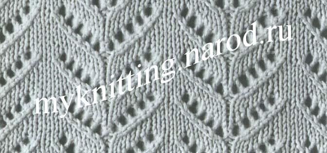 ажурные узоры вязание спицами вязание на спицах
